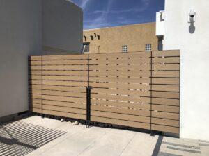Resysta fence cladding